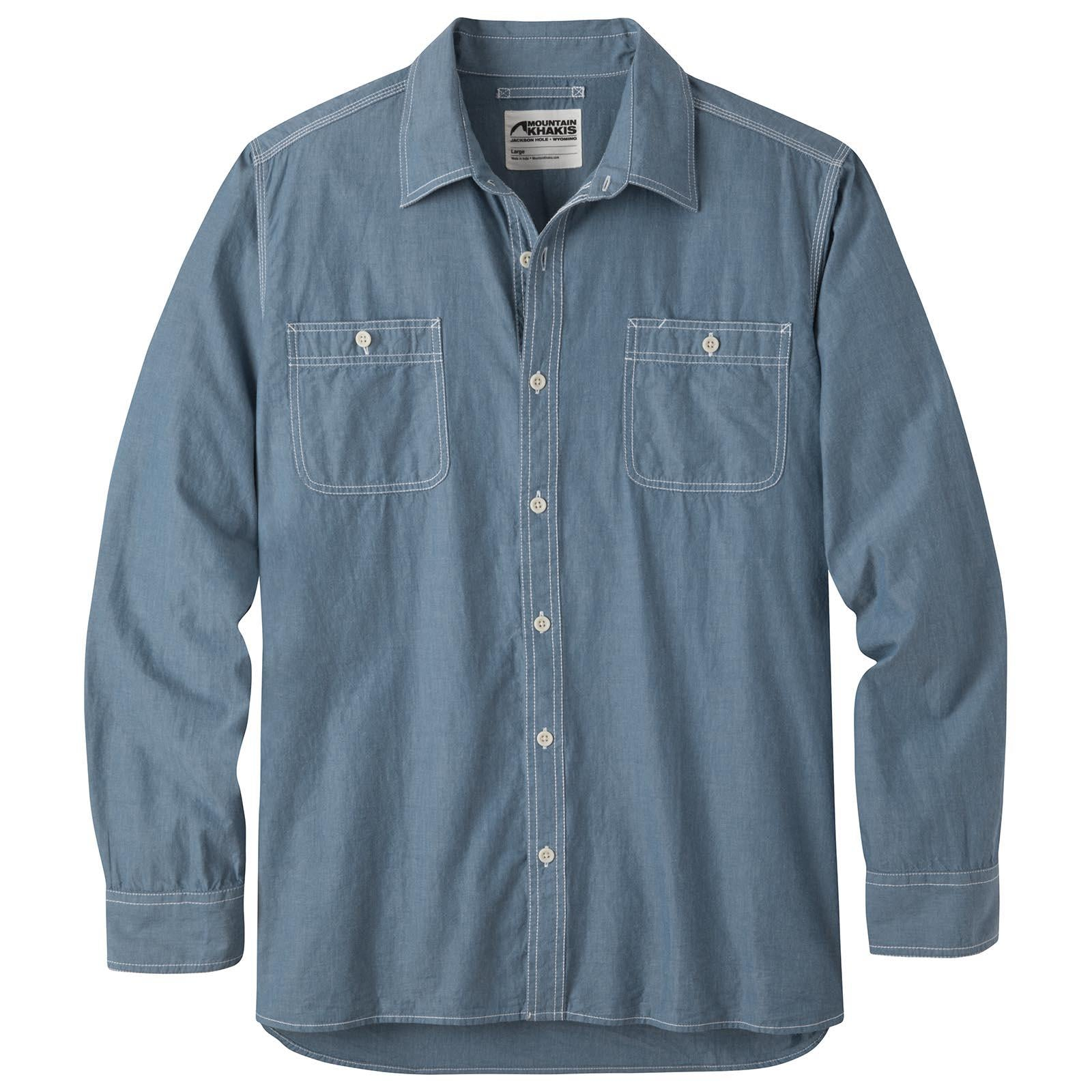 cd1aee3f Men's Mountain Chambray Long Sleeve Shirt