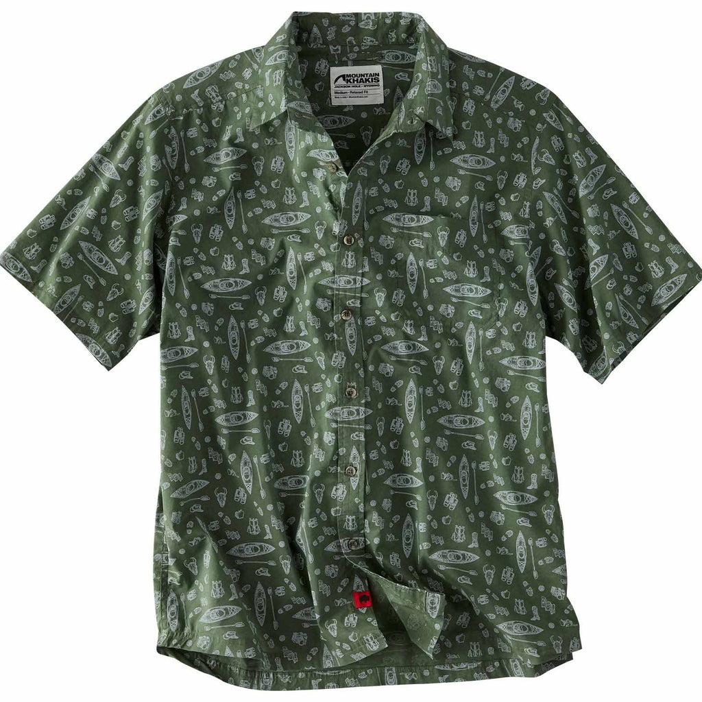 Men's Short Sleeve Shirt Adventurist Signature Print | Mountain Khakis