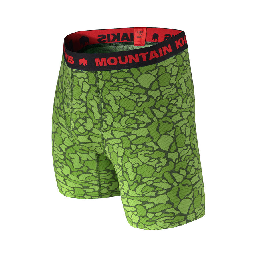 Men's Boxer Brief Green Camo | Mountain Khakis