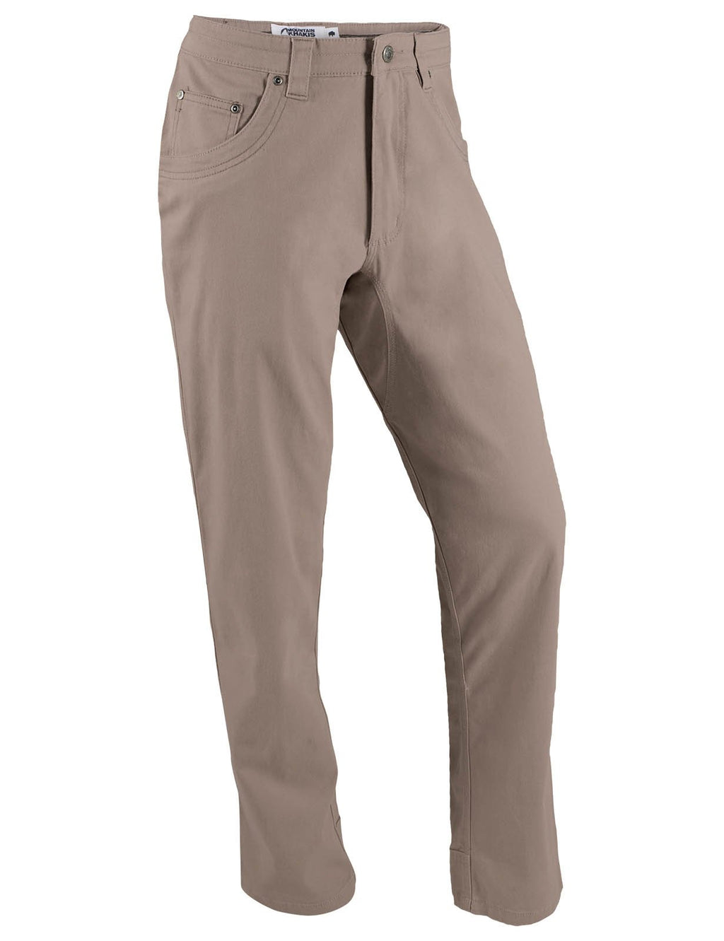 "Men's Camber 103 Pant | Mountain Khakis | A streamlined version of our Camber 105 pant. Triple-stitched seams, ""mudflap"" reinforced heel cuffs, reinforced pocket bags, and angled back pocket ideal for gloves. This outdoor pant is ideal for hiking, climbing, camping, and days in the field."
