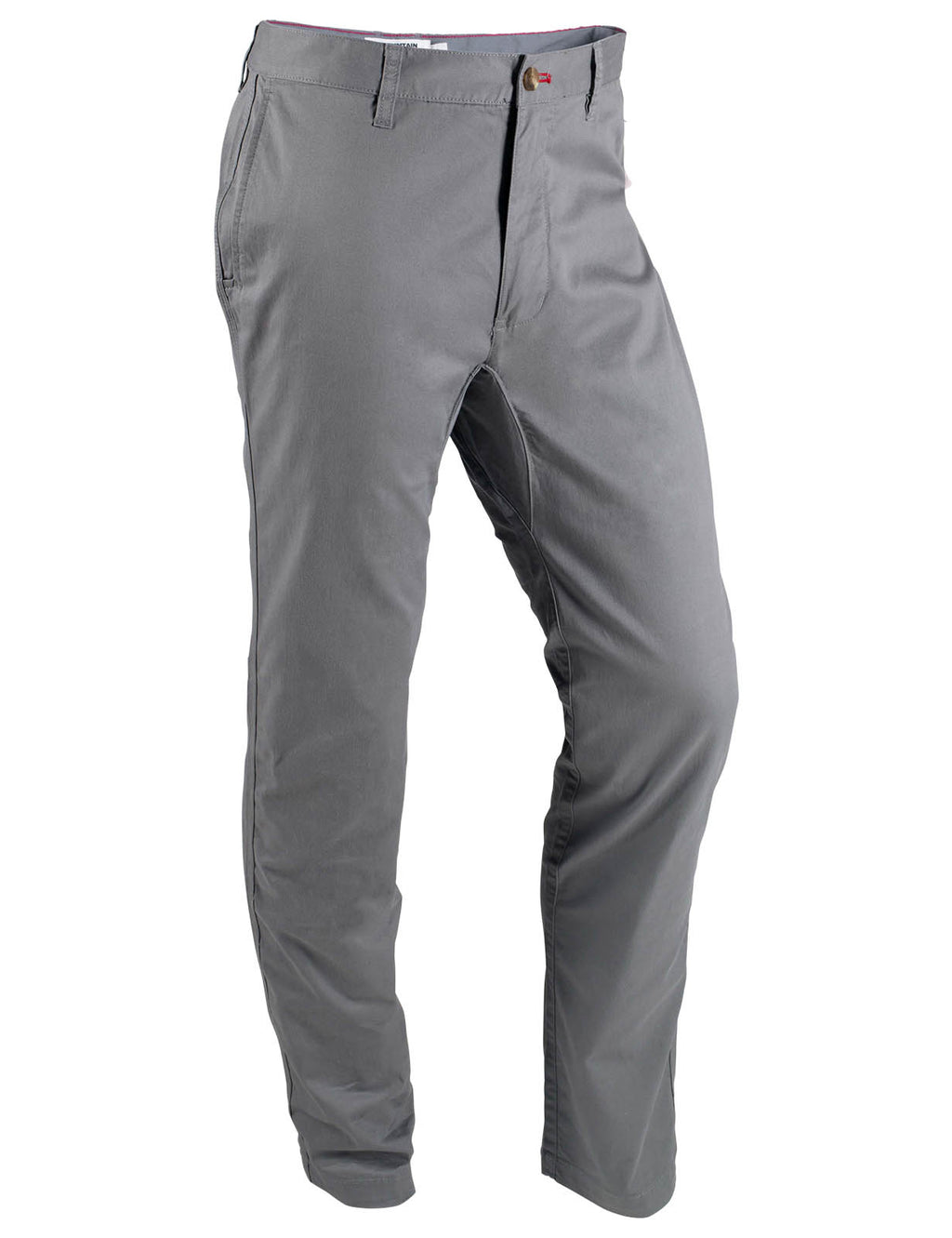 Men's Jackson Chino Pants | Mountain Khakis. Men's outdoor lifestyle pant ideal for hiking, camping, climbing, field, trail, stream. Cotton spandex twill. Slim tailored fit with mid-rise and tailored leg. Triple-stitched out-seams for maximum durability.