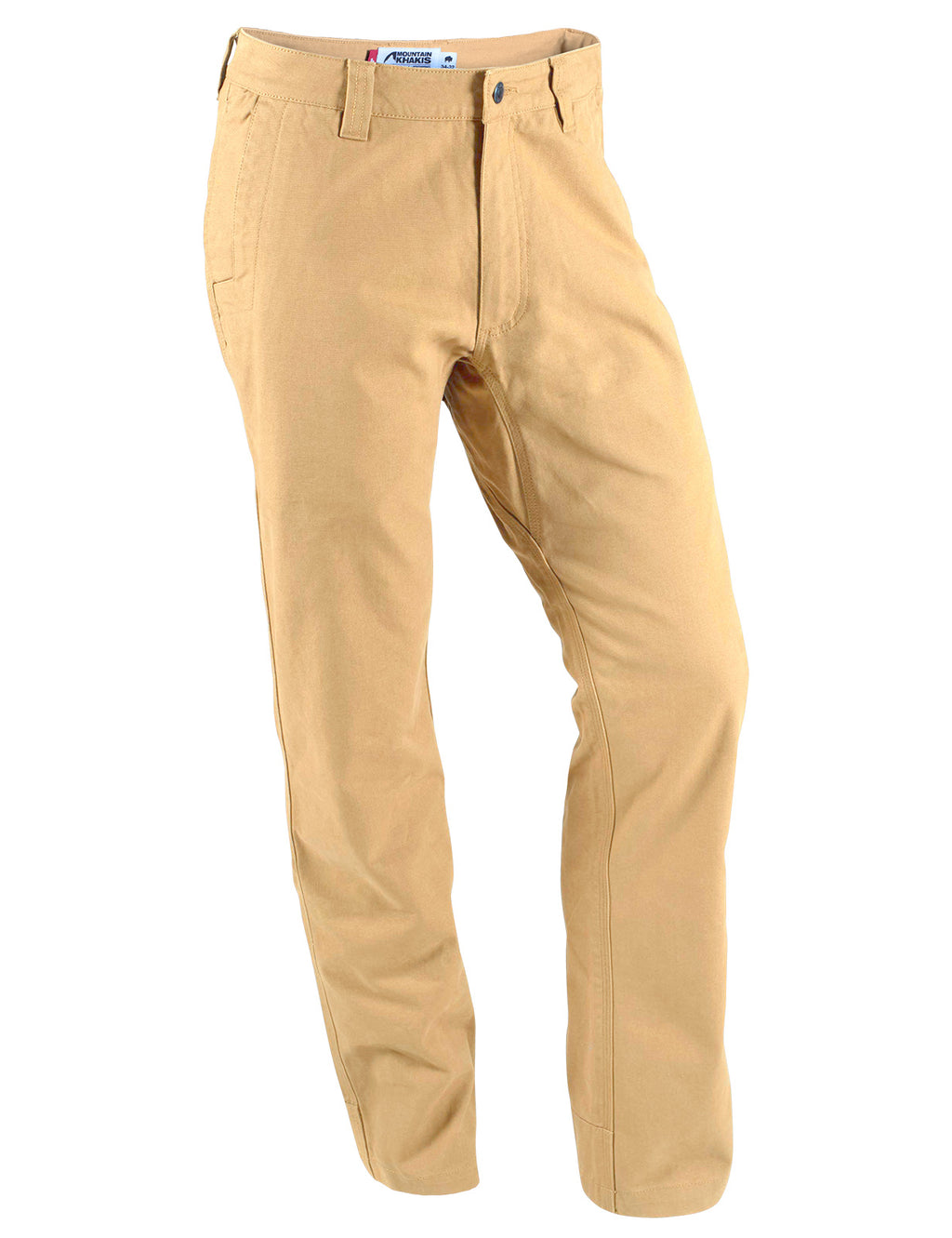 Men's Original Mountain Pant | Slim Fit | Men's rugged canvas organic cotton outdoor lifestyle pant for hiking, climbing, hunting, field work and more in Yellowstone khaki color.