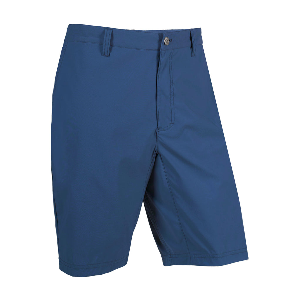 Mountain Khakis Waterrock Short | Made for the river, lake, beach or even a night out with friends. This lightweight, breathable short has a DWR rating of 80/10, inseam action gusset, five pockets complete with drain holes, and a hidden zippered security pocket perfect for keys.