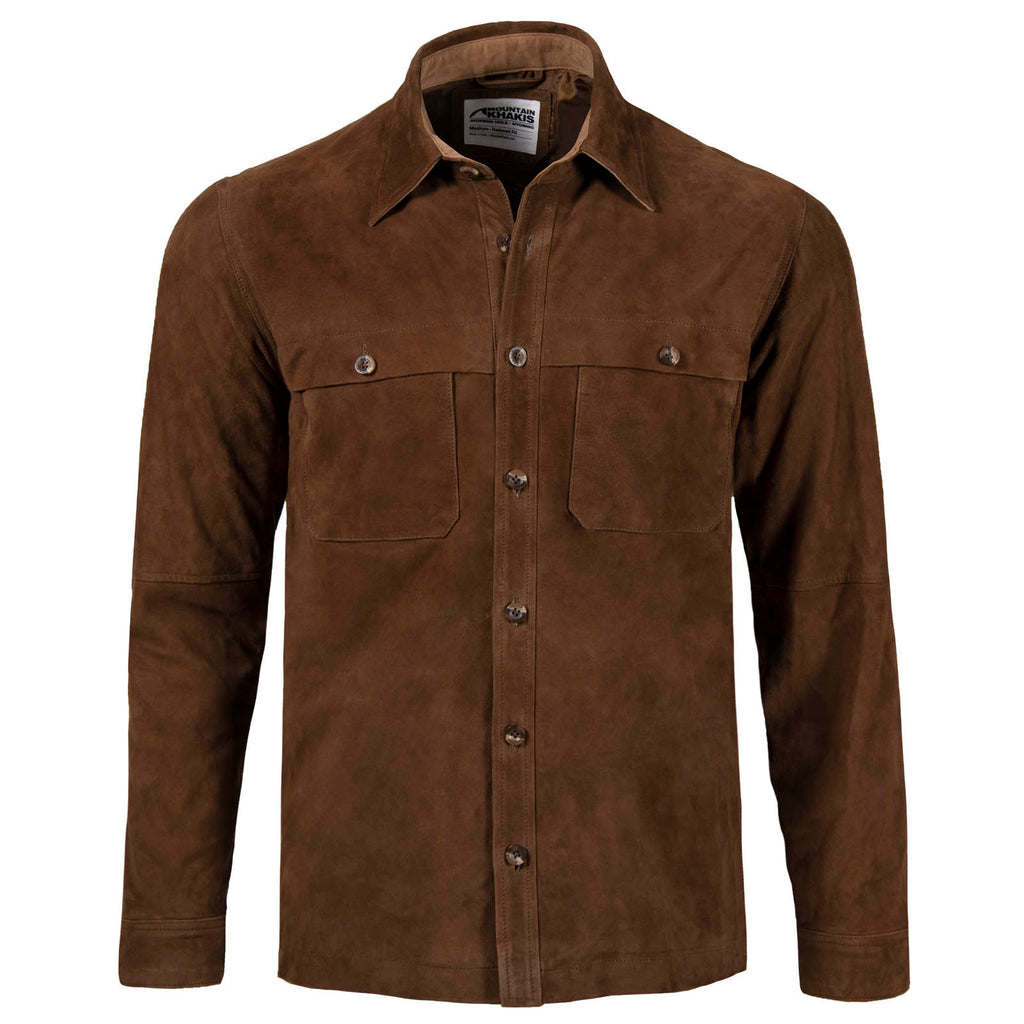 Men's Whiskey Suede Shirtjac