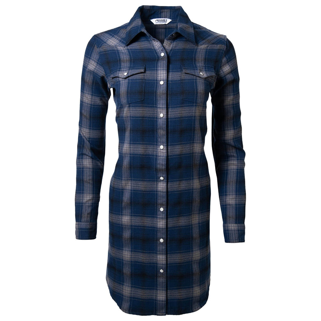 Women's Saloon Shirt Dress | Plaid Pattern | Mountain Khakis
