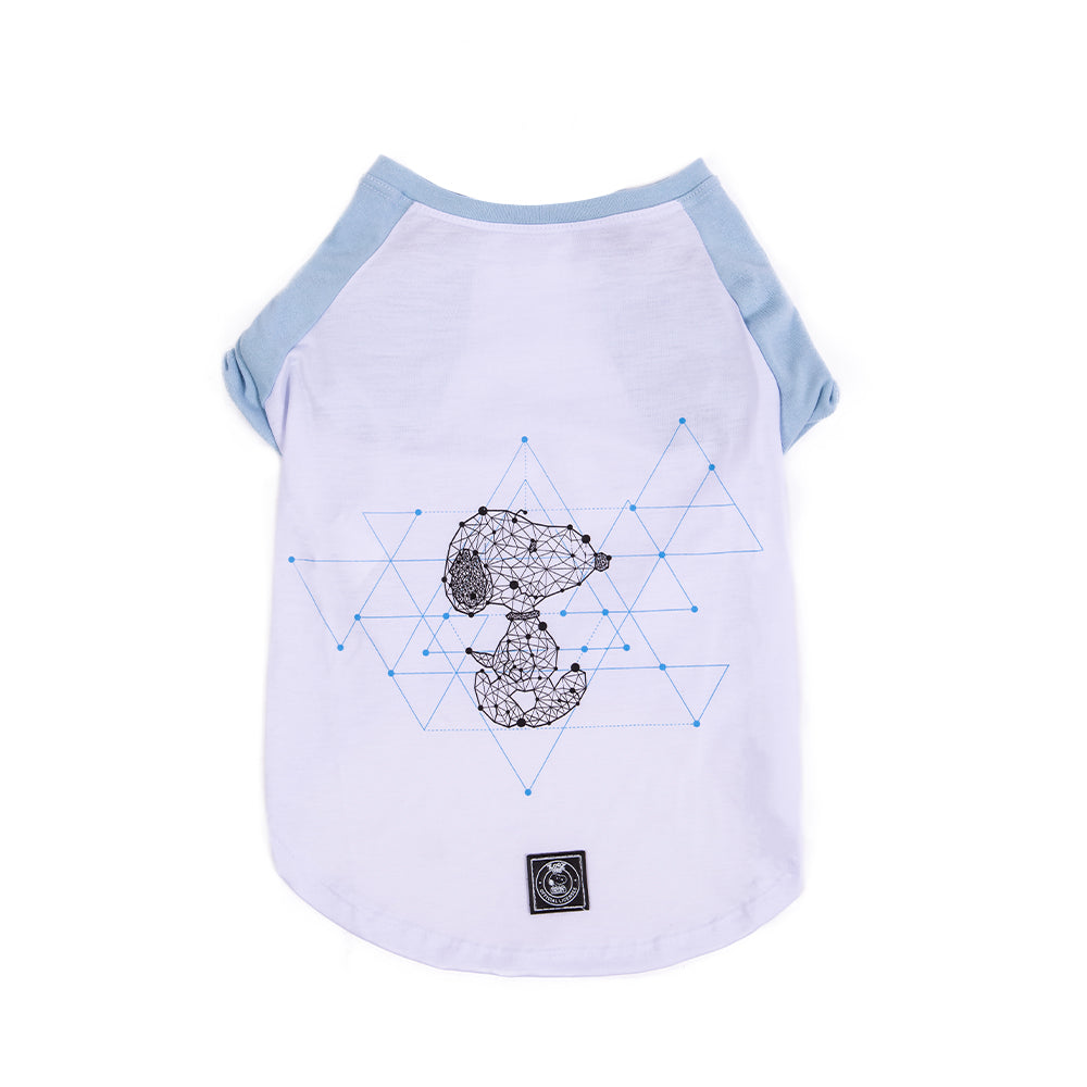 CAMISETA SNOOPY GEOMETRY AZUL