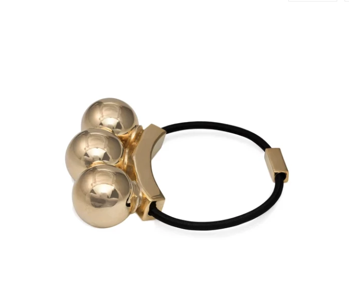 3 Bauble Hairband & Bracelet Polished Gold
