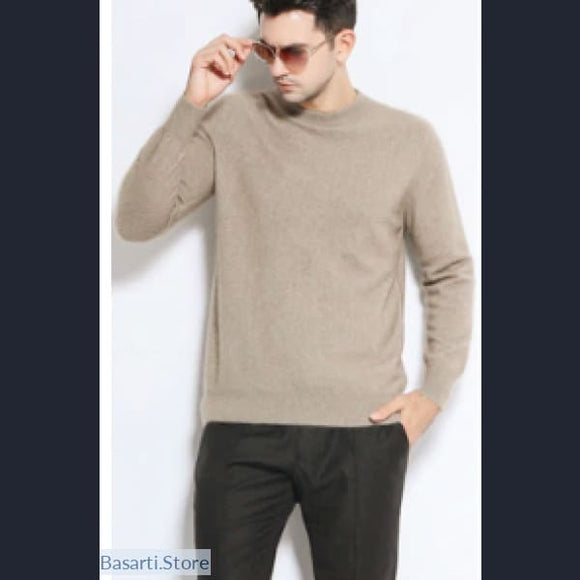 100% Men's Cashmere Sweater., Men's Cashmere Sweater- Basarti.Store