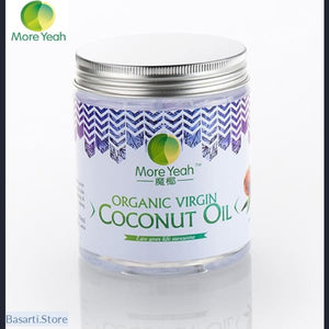 100% VIRGIN Coconut Oil Extract Cold Pressed (180ml), coconut oil 180 ml- Basarti.Store