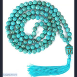 108 Japa Mala Natural Stone Necklace, 200000147- Basarti.Store