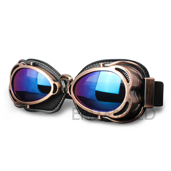 Vintage Motocross Steampunk Goggles