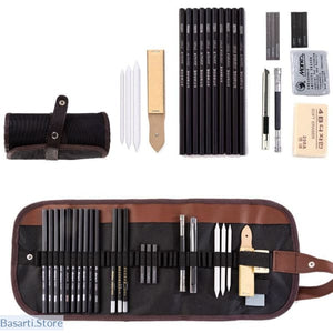 28 pieces Professional Sketching Drawing Kit, Gifts Art Supply- Basarti.Store