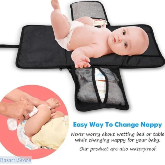 3 in 1 Waterproof Changing Portable Baby Diaper Cover Mat - 200001340