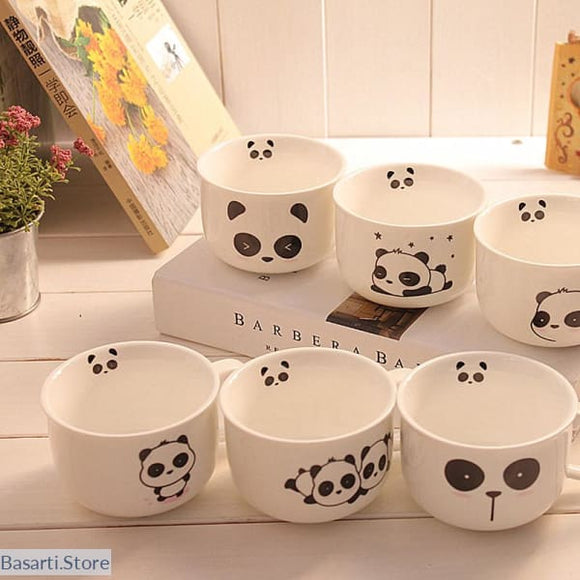 4pcs Lovely Cute Panda coffee ceramic mugs, Home Mug- Basarti.Store