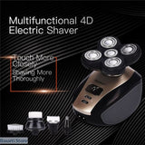 5 in 1 Multi-function Rechargeable Electric Clipper for Bald Heads, - Basarti.Store
