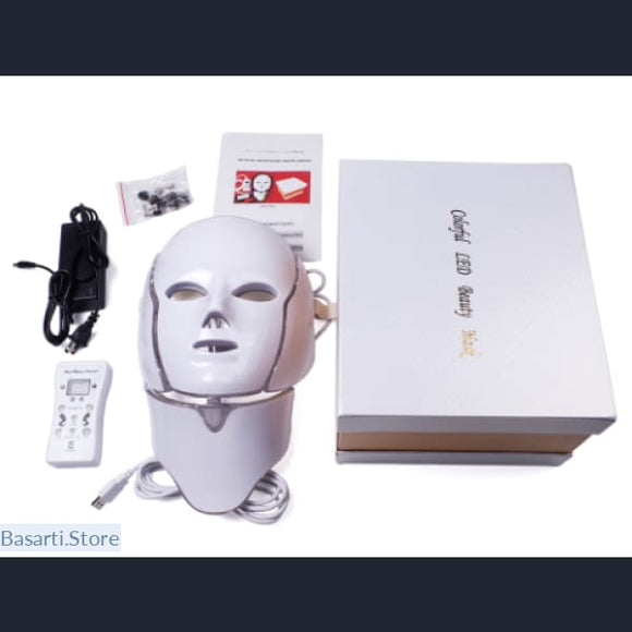 7-Color LED Light Therapy Mask for Skin Rejuvenation, LED Mask Therapy- Basarti.Store