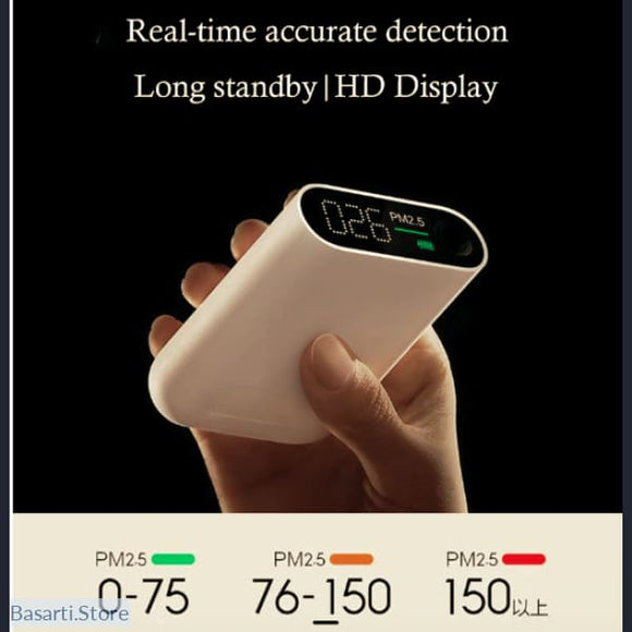 Air Quality Tester with High Precision LED Screen, Gadget Air PM- Basarti.Store