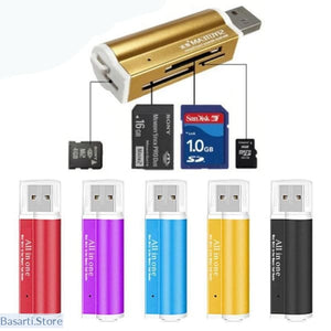 All In One Multifunction Memory High Speed CEWAAL Card Reader Adapter, Gadget- Basarti.Store