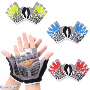 Anti-slip GEL Pad Unisex Cycling, Bodybuilding Gloves, 200000581- Basarti.Store