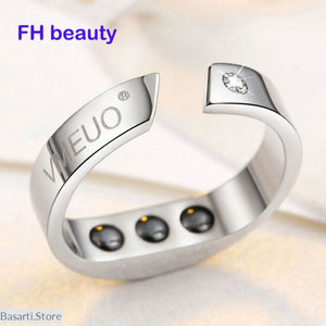 Anti Snore Magnetic Therapy Ring in Titanium, Anti Snore Magnetic Therapy Ring- Basarti.Store