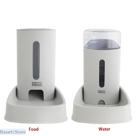 Automatic Feeder And Water Dispenser For Pets 3.8 ltr / 1 Gallon in 4 Pastel Colors, 200003695- Basarti.Store
