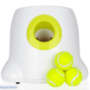 Automatic Tennis Ball Launcher with 3 balls, - Basarti.Store