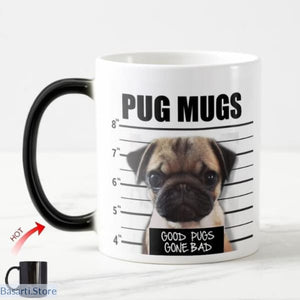 Bad Pug Ceramic Dog Mug, 100003290- Basarti.Store