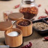 Bamboo Wooden Spice Storage Jar, 100003251- Basarti.Store