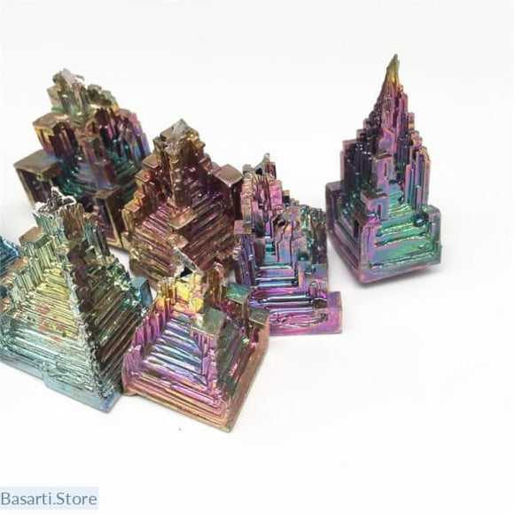 Beautiful Rainbow Bismuth Specimen, Crystal Specimen- Basarti.Store