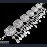 Beautiful Tribal, Silver Plated Ethno Belt, tribal- Basarti.Store