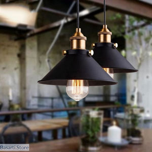 Black Vintage Industrial Pendant Light, Black Vintage Industrial Pendant Light- Basarti.Store