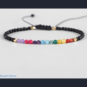 Bracelet Men/Women with Lava Beads and Semi-precious Stones, Jewelry Bracelet- Basarti.Store
