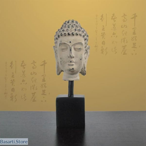Buddha Head Sculpture, Decor Buddha Head- Basarti.Store