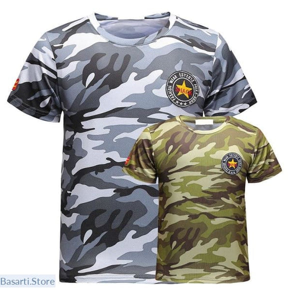 Camouflage Short Sleeve T-shirt for Men, 200000783- Basarti.Store