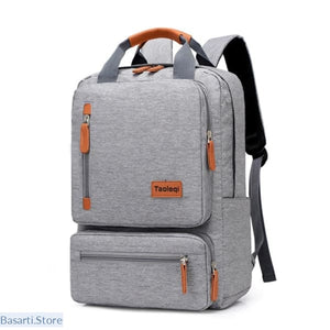 Casual Ergonomic 15.6-inch Laptop Anti-Theft Travel Backpack in 6 Colors - Light Grey - 152401