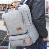 Casual Ergonomic 15.6-inch Laptop Anti-Theft Travel Backpack in 6 Colors - 152401