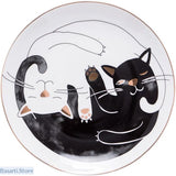 Cat Porcelain With Gold Inlay Food Plate, 100003310- Basarti.Store