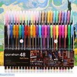 Colored Gel Pens Set & Refills (multiple options), Gifts Art Supply- Basarti.Store