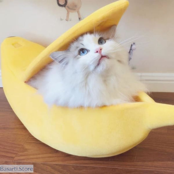 Cozy Cute Banana Bed for Cats & Kittens - 200003700