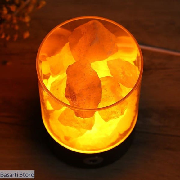 Crystal Light Natural Himalayan Salt Lamp, Crystal Light natural Himalayan salt lamp- Basarti.Store