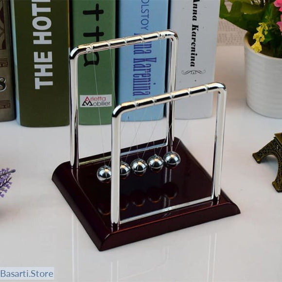 Educational Toy or Desk Gift, Newtons Cradle, Steel Balance Ball Pendulum, Gadget- Basarti.Store