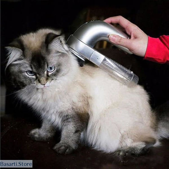 Electric Cat or Dog Hair Remover Comb & Vacuum