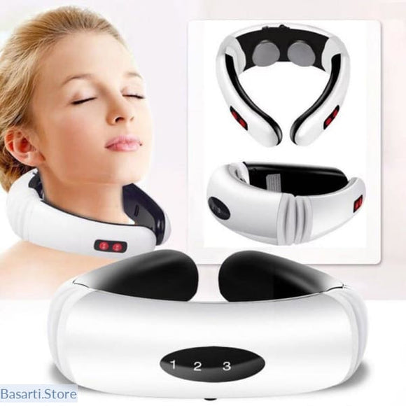 Electric Pulse Back and Neck Massager Far Infrared Heating Pain Relief Tool Health Care Relaxation, Wellness FIR- Basarti.Store