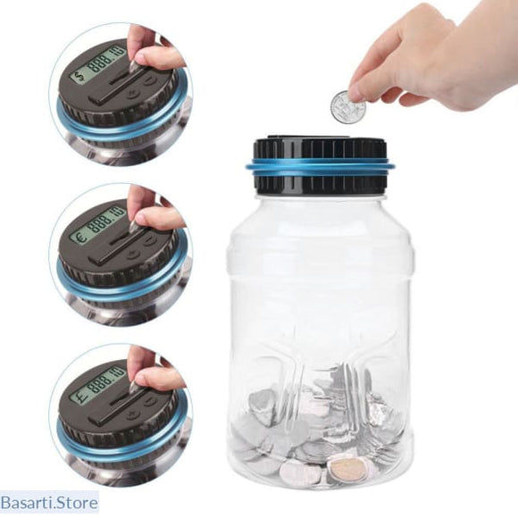 Electronic Digital LCD Coin Counting and Storage bank. Great for teaching kids the value of money., Gadget- Basarti.Store