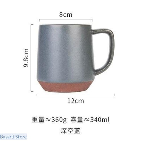 European Matte Clay Coffee Mug