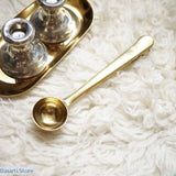 European Style Gold Color Sealing Clip & Coffee Measuring Spoon - Gold - 200352145