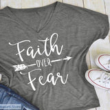 Faith over Fear T-Shirt, 3 Colors Available, 200000791- Basarti.Store