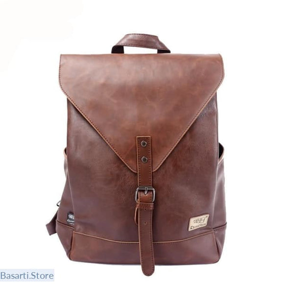 Faux Leather Backpack For Teenagers and Men & Women, Mne accessories bag- Basarti.Store