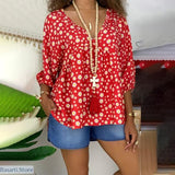 Flower Printed Summer Blouse In 4 Colors Size S-5XL, 200000346- Basarti.Store