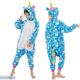 Fun and Colorful Onesie Pajamas For Children in 19 Different Styles - 4T / Blue star unicorn